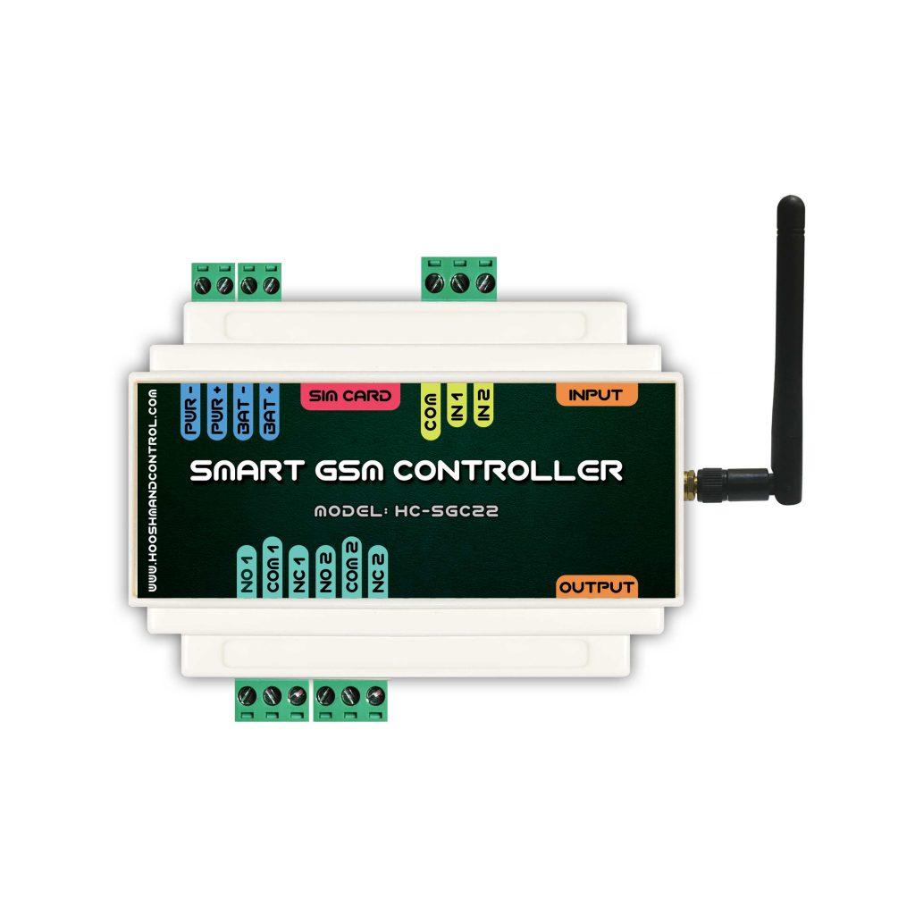 دستگاه کنترل از راه دور ۲ کانال - دستگاه کنترل از راه دور صنعتی 2 خروجی 2 ورودی - تجهیزات هوشمند سازی ساختمان - خانه هوشمند | اس-ام-اس-کنترلر| اس ام اس کنترلر | کنترل پیامکی